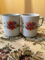 2 db antik Zsolnay pipacsos bögre, csésze