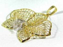Arany virág medál (Kecs-Au69295)