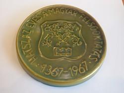 1367-1967 Eozin plaket Magyar Felsőoktatás