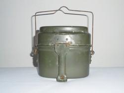 Zöld katonai alumínium csajka - MN Magyar Néphadsereg honvédségi - kb. 1970-es évekből