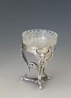 Antik ezüst figurális fűszertartó