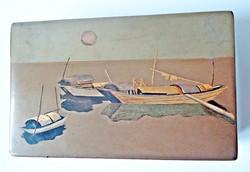 Kézzel festett orosz fa doboz