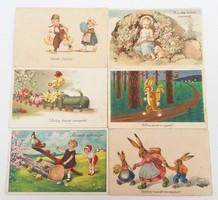 Régi húsvéti képeslap 6db