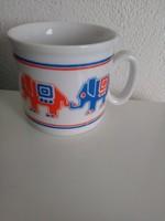 Zsolnay elefántos bögre 3dl