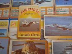 Retro játék kártya: Harci repülők 7 ajándék képpel