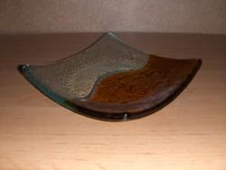 Üveg négyzetes mécsestartó gyertyatartó 14*14 cm (j-6)