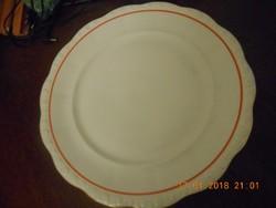 Antik Zsolnay porcelán nagy kerek kínáló tál 30,5 cm / Éva sorozat