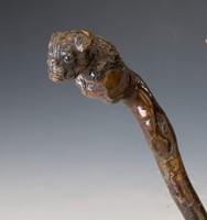 Fa botvég - kutyát elkapó kígyó ábrázolással