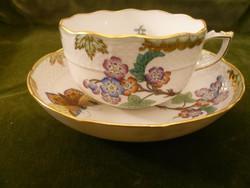 Antik Viktória mintás herendi teás csésze aljával