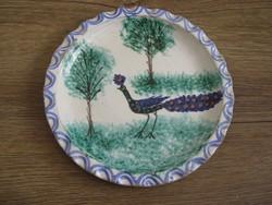 Régebbi pávás falitányér