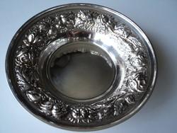 Csodaszép régi  rózsás szecessziós  ezüst  asztalközép