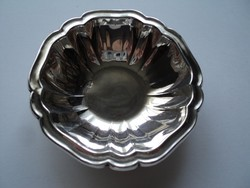 Antik ezüst asztaldísz tálka