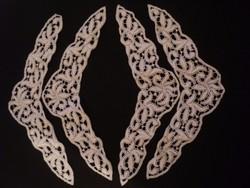 Nagyon szép dekorációs csipke díszek 4 darab