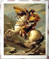 Jaques Louis David: NAPOLEON LOVAS LOVON,VALÓDI OLAJFESTMÉNY EREDETI ANTIK MESTERMŰ FESTMÉNY ALAPJÁN