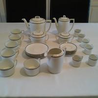 Elegáns, görög mintás porcelán kávés és teás készlet
