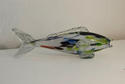 Színes üveg hal