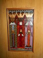 Feltin András : három királyok  TŰZZOMÁNC KÉP