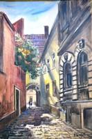Élesdy István (1912-1987): Budavári utca