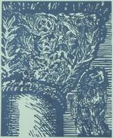 Ágotha Margit: Jónás imája (linómetszet, 1984)