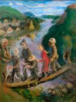 Szabó Vladimir (1905 - 1991): Átkelés a Dunán (Vakok)