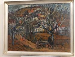 """Képcsarnokos festmény, Balogh Ervin: """"Hazafelé"""""""