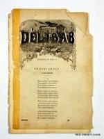 1853 november 27  /  DÉLIBÁB  /  RÉGI EREDETI MAGYAR ÚJSÁG Szs.:  2218