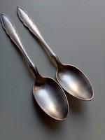 Antik szecessziós-WELLNER 100-ezüstözött teáskanál-2 db-14,5 cm