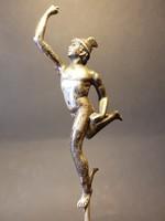 Ezüstözött Hermész szobor régi