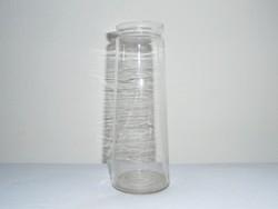 Régi vékony falú befőttes dunsztos üveg - 0.5 liter