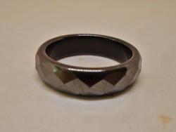 Különleges antik valódi hematitkő gyűrű