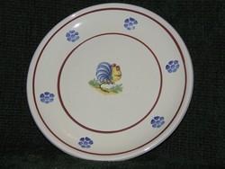 Kakasos, olasz kerámia tányér, kínáló