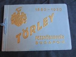 TÖRLEY 50 JUBILEUMI DOMBORNYOMOTT KÉPES KIADVÁNY REKLÁM 1930 PEZSGŐ GYÁR TÖRTÉNETE BUDAFOK