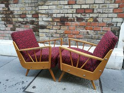 Retro design kisméretű fotel pár