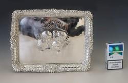 Ezüst angol tálca putto figurákkal