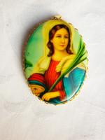 Régi dekoratív vallási medál