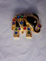 Retró szerencsehozó elefánt bross