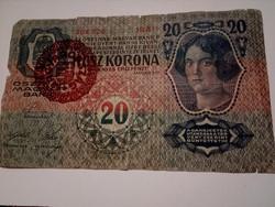 1913-as 20 Korona M . O FB