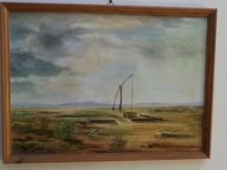 Festmény Szűcs Károly: Hortobágy