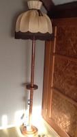 Retro fa esztergált állólámpa