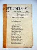 1862 november 13  /  Gyermekbarát  /  RÉGI ÚJSÁG Ssz.: 535