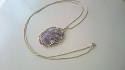 Aranyozott nyaklánc (AM.DUBLE) ásvány medállal