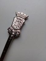 Koronás két oroszlános címerrel holland díszes kis villa-11,5 cm