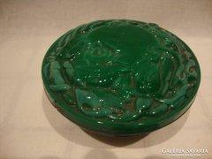 Malachit üveg bonbonier doboz