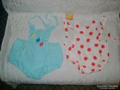 Régi, baba napozó ruha - két darab