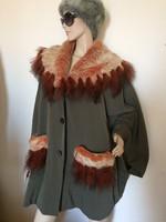 Valdi GALITZINE vintage szőrme kabát,poncsó
