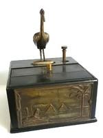 Antik asztali zenélő cigaretta kínáló doboz