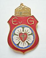 Magyar Szent koronás iskolai tűzzománc kitűző