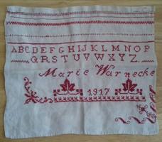 RÉGI   ÍRÁSMINTA  1917