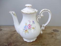 Antik Zsolnay aranyozott,tollazott virágmintás kávéskanna