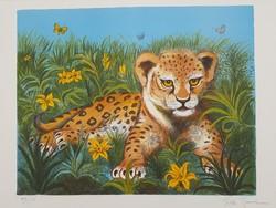 Francia művész: Tilda Kölyök leopárd